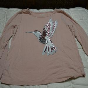 Children's Place Shirts & Tops - Children's Place Hummingbird Sequin Top XL